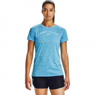 Damen Under Armour Kurzarm-T-Shirt Tech Twist Grafik LU