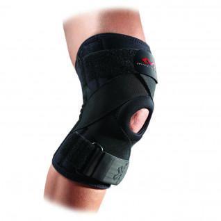 McDavid-Knieorthese mit Federrippen und gekreuzten Gurten