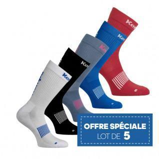 Satz mit 5 Paar Kempa Classic Logo-Socken