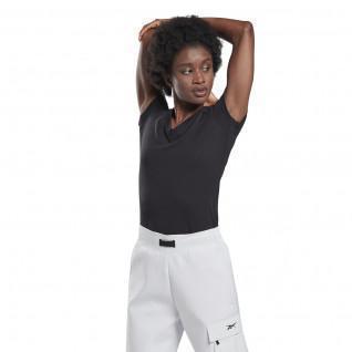T-Shirt Frau Reebok GB Baumwolle V-Ausschnitt Vector