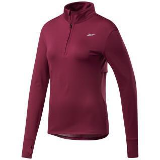 Sweatshirt Frau Reebok Running 1/4 Zip