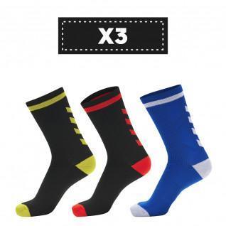 Set mit 3 Paar dunklen Hummel Elite Indoor Low Socken (Farbauswahl)