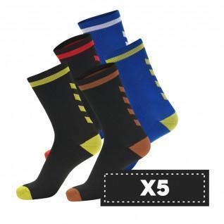 Set mit 5 Paar dunklen Hummel Elite Indoor Low Socken (Farbauswahl)