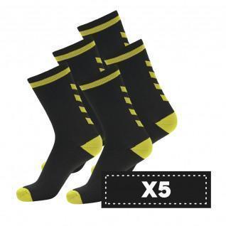 Packung mit 5 Paar dunklen Hummel Elite Indoor Low Socken
