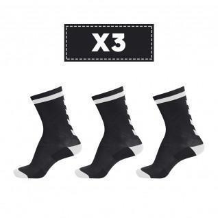 Satz mit 3 Paar dunklen Hummel Elite Indoor Low Socken